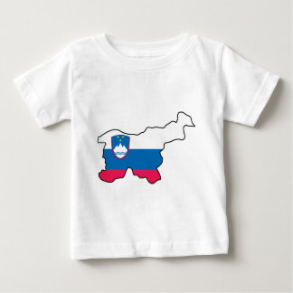 Map Of Slovenia Baby T-Shirt