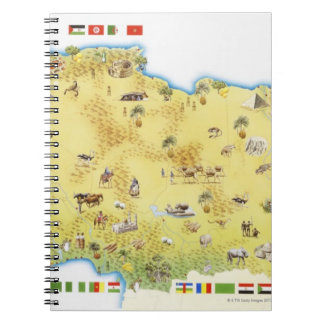Map of South Africa 2 Spiral Notebooks