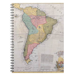 Map of South America 3 Notebooks