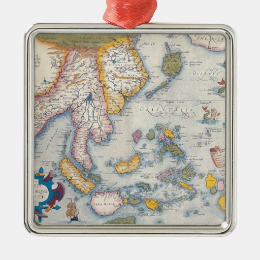 Map of South East Asia 2 Christmas Tree Ornament