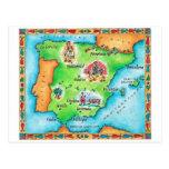 Map of Spain Postcard