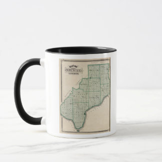 Map of Spencer County Mug