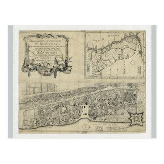 Map of St. Augustine Florida (1764) Postcard
