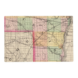 Map of St Clair County, Michigan Laminated Placemat