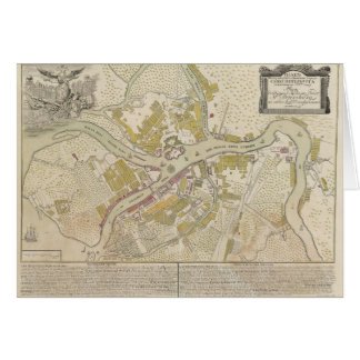 Map of St. Petersburg Russia, 1737 Card