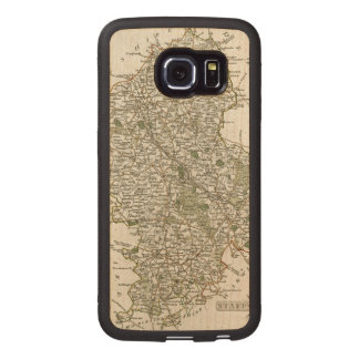 MAP OF STAFFORDSHIRE, 1793 WOOD PHONE CASE