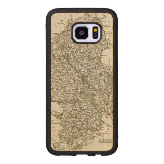 MAP OF STAFFORDSHIRE, 1793 WOOD SAMSUNG GALAXY S7 EDGE CASE