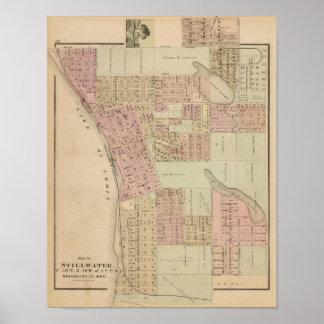 Map of Stillwater, Washington County, Minnesota Poster