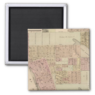 Map of Stillwater, Washington County, Minnesota Square Magnet