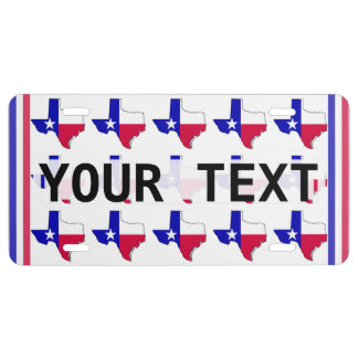 Map Of Texas License Plate