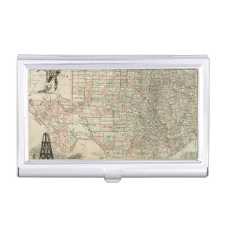Map of Texas with County Borders Case For Business Cards