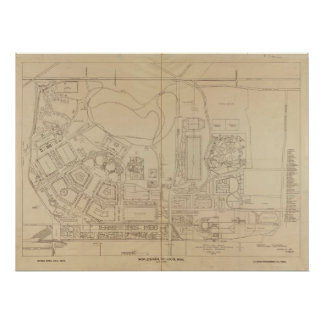 Map of the 1904 World's Fair in St. Louis, Missour Poster