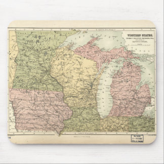 Map of the American MidWest (1873) Mouse Pad