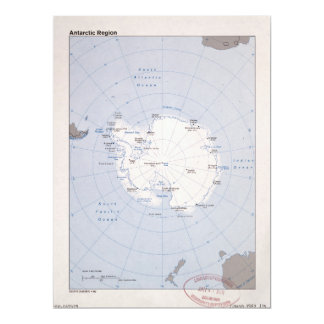 Map of the Antarctic Region (1982) Card