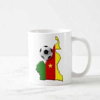 Map of the Cameroon Cameroun soccer ball gifts Coffee Mug
