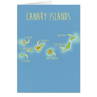 Map of the Canary islands Card