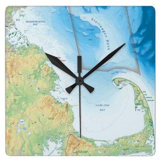 Map of the Cape Cod Bay Clocks