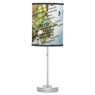 Map of the Capital city of Japan, Tokyo Desk Lamp