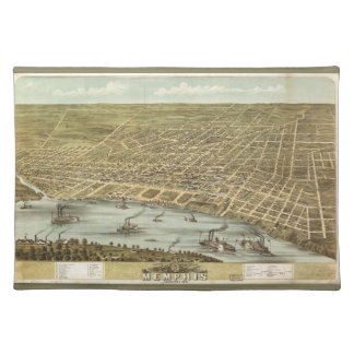Map of the City of Memphis Tennessee (1870) Placemats