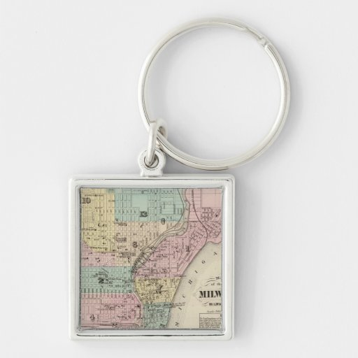 Map of the City of Milwaukee, Milwaukee Co Key Chains