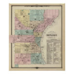 Map of the City of Milwaukee, Milwaukee Co Poster