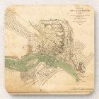 Map of the city of Richmond, Virginia (1858-1864) Coaster