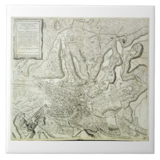 Map of the city of Rome, engraved by the artist, 1 Ceramic Tiles