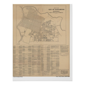 Map of the City of Sacramento, 1916 Poster