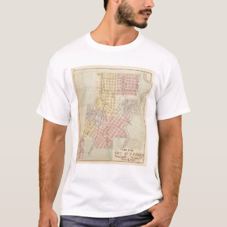 Map of the City of St. Peter, Minnesota T-Shirt