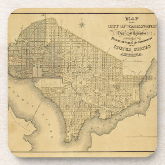 Map of the City of Washington D.C. (1839) Coaster