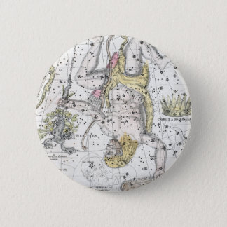 Map of The Constellations Plate VIII 2 Inch Round Button