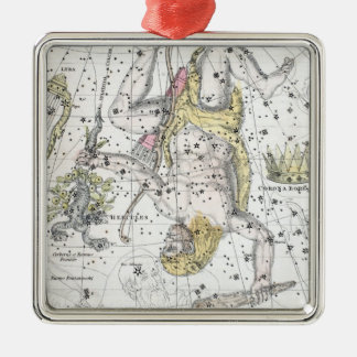 Map of The Constellations Plate VIII Metal Ornament