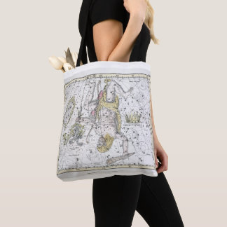 Map of The Constellations Plate VIII Tote Bag