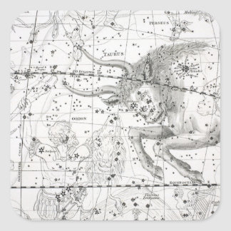 Map of The Constellations Plate XIV Square Sticker