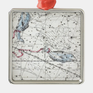 Map of The Constellations Plate XXII Metal Ornament