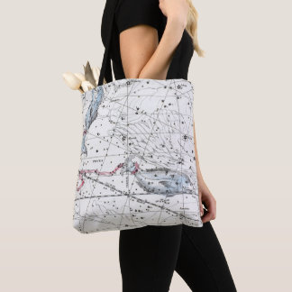 Map of The Constellations Plate XXII Tote Bag