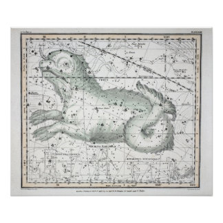Map of The Constellations Plate XXIII Poster