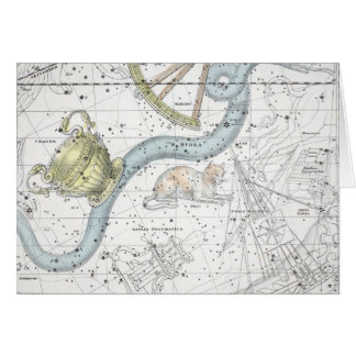 Map of The Constellations Plate XXVI Card