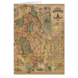 Map of the county of Plymouth Massachusetts (1857) Card