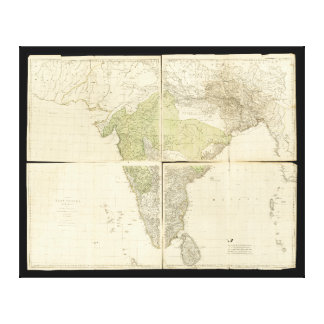 Map of the East Indies with the Roads (1768) Canvas Print