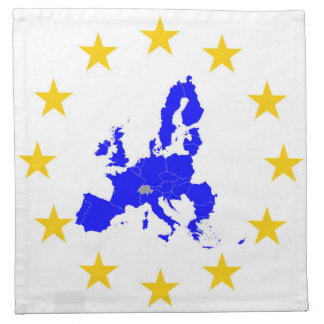 Map of the European union with star circle Napkin
