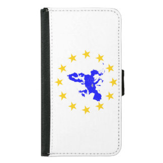 Map of the European union with star circle Samsung Galaxy S5 Wallet Case
