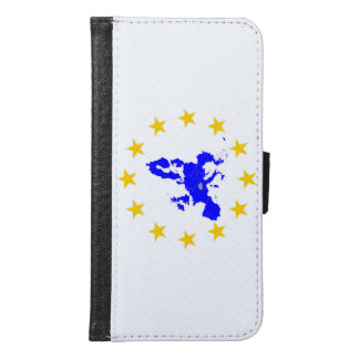 Map of the European union with star circle Samsung Galaxy S6 Wallet Case