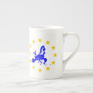 Map of the European union with star circle Tea Cup