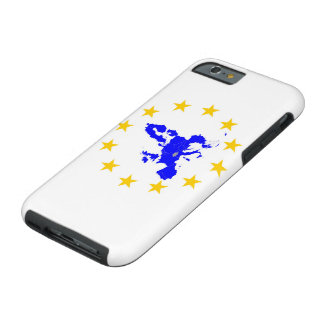 Map of the European union with star circle Tough iPhone 6 Case