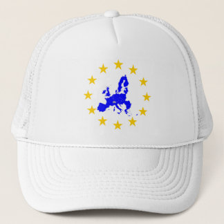 Map of the European union with star circle Trucker Hat