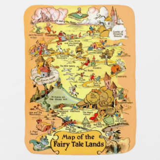 Map of the Fairy Tale Lands Baby Blanket
