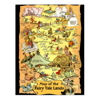 Map of the Fairy Tale Lands Postcard Post Cards