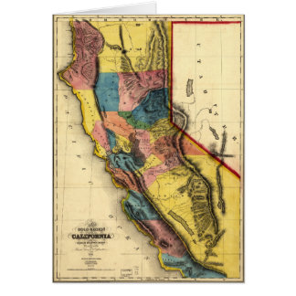 Map of the Gold Region in California (1851) Card