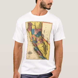 Map of the Gold Region in California (1851) T-Shirt